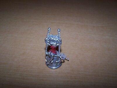 Betty Boop on a swing Pewter Thimble  Mint Condition