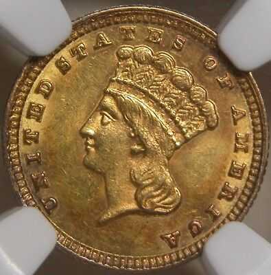 1881 GOLD G$1 Gold Dollar NGC MS63 *Low Mintage of 7,620*