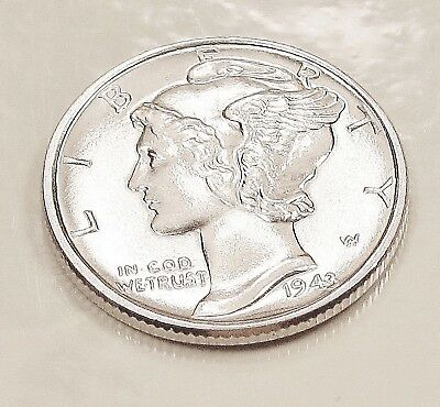 1943  Mercury  Dime  Choice  BU  Beautiful  White  Cartwheel  Luster  #118  7