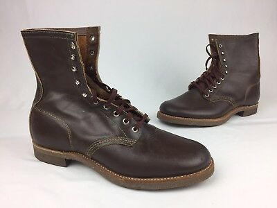 VTG Men's Vulcan Leather Work Boots Brown Size 12 EE