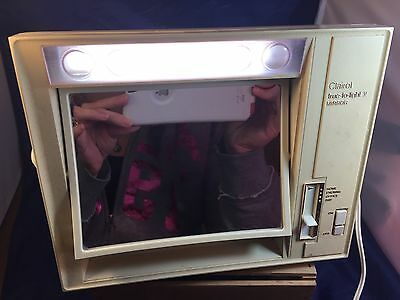 Vintage Clairol True-To-Light-V  Mirror 4 Way Lighted Make Up Mirror Model Lm-5