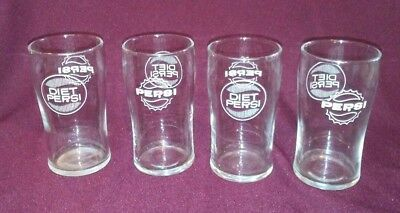 Set of 4 Pepsi/Diet Pepsi Drinking Glasses