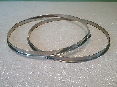 "Ludwig Vintage Single Flange 14"" Snare Hoops 1920's Nickel Over Brass!"