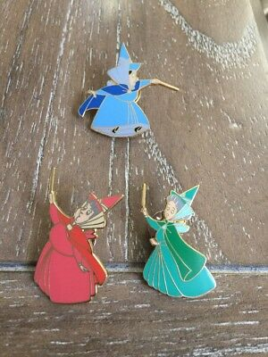 Disney pin - Sleeping Beauty - set of Flora, Fauna, and Merryweather Fairies