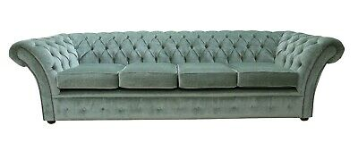 Chesterfield Balmoral Handmade 4 Seater Sofa Settee Velluto Lawn Fabric