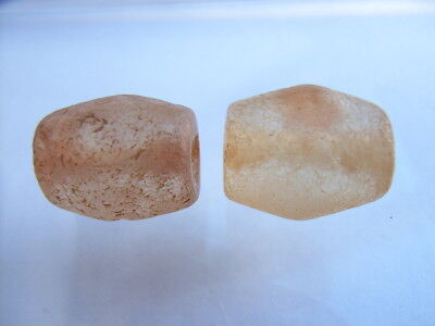 2 Ancient Neolithic Rock Crystal Beads, Stone Age, VERY RARE!  TOP !!