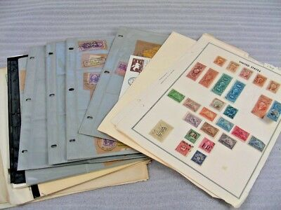 US, Excellent Accumulation of Revenue & other Stamps hinged/mounted on remainder
