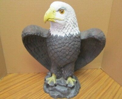 """Large 14"""" Height Perching American Bald Eagle Statue Home Garden Decor Figurine"""