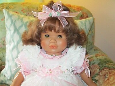 CoLLecTiBLe shabby pink roses BEAUTIFUL 26IN. VINYL BaBy DoLL