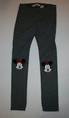 New H&M Disney Gray Minnie Mouse Knee Leggings Pants Size 8-9 Year NWT Legging