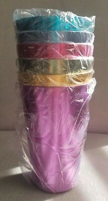 Set of Six (6) Colorful Tumblers - Hand Wash Only