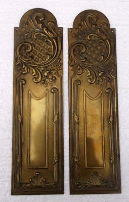 Stylish Pair of Vintage French Brass Door Finger Plates #E 5th of 5