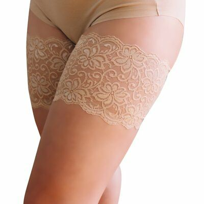 "Bandelettes DOLCE BEIGE Elastic Anti Chafing Thigh Bands 6"" in length"