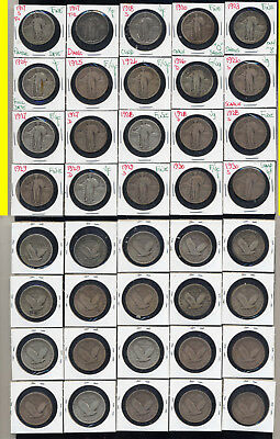Lot Of 20  Standing Liberty Quarters- Includes Early Dates- No Reserve