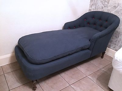 Antique French Chaise Longue.Day Bed.Tufted.Sofa.Chesterfield.Buttoned.
