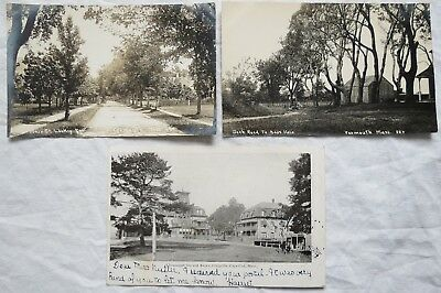 Yarmouth MA RPPC Real Photo Postcards& Chequaquet Inn Craigville Old Vtg Antique
