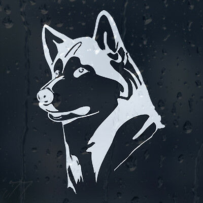 Siberian Husky Dog Car Decal Vinyl Sticker For Window Or Bumper Or