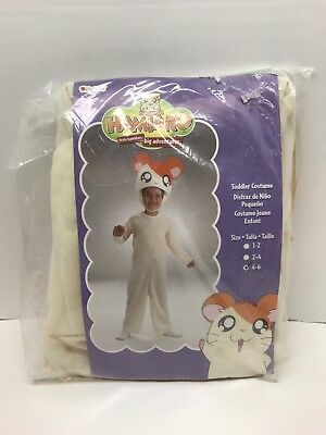 NEW IN PACKAGE Halloween Costume Size 4-6 NWT Hamtaro Little Hamster White