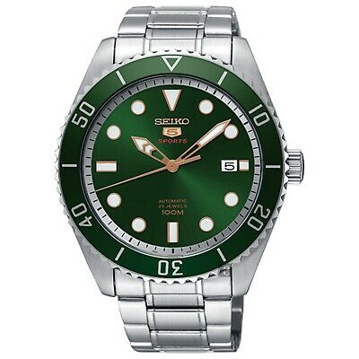 SEIKO 5 SRPB93K1 SRPB93 Automatic 23 Jewels Green Dial Stainless Steel Men Watch