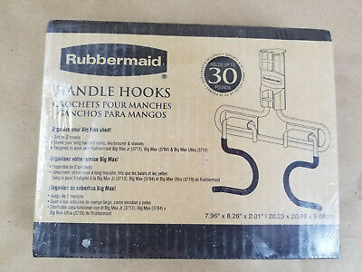 Rubbermaid Big Max Shed Utility Handle Hooks Brand NEW in Box 5E63 Holds 30 Lbs.