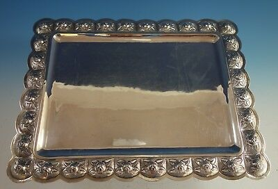 Aztec Rose by Sanborns Mexican Sterling Silver Serving Tray (#2096)