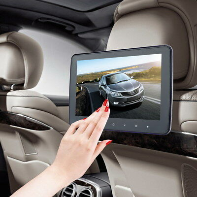 "10.1"" Car HD LCD Touch Screen Headrest Pillow Monitor SD/DVD/USB Player IR/FM US"