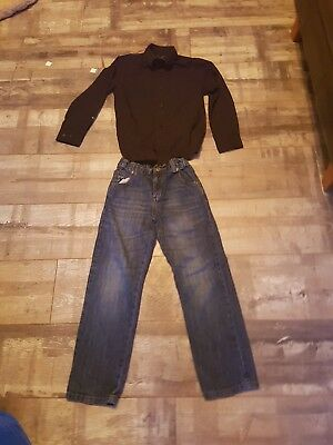 Boys Jeans & Shirt Age 7-8 Years by F&F