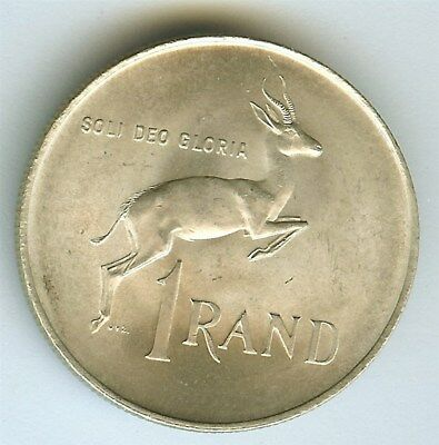 South Africa 1966 Silver Rand  Km#71.1  Gem Uncirculated