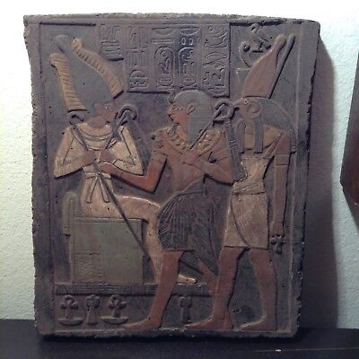 Rare Antique Ancient Egyptian Stela King Amenhotep God Horus & Osiris1386–1349BC