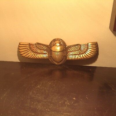 Rare Antique Ancient Egyptian Winged Scarab Water Gold. ;Book dead 1650-1580BC