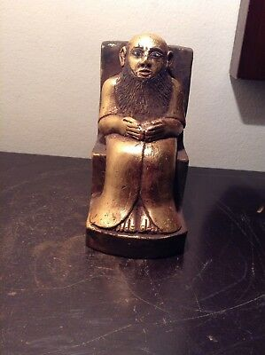 Rare Antique Ancient Egyptian Statue Priest called Hori siting throne1520-1440BC