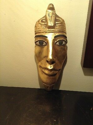 Rare Antique Ancient Egyptian king Akhenaten Mask waterGold unify God1353–1336BC