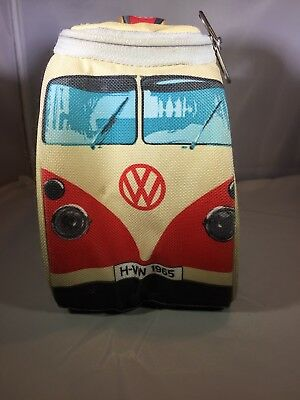 The Monster Factory (Red/Tan) Insulated Vintage Volkswagon Van Lunchbox