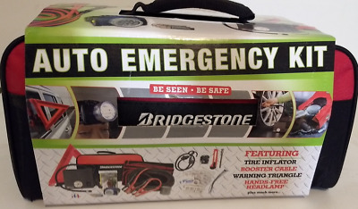 Bridgestone Auto Emergency Kit  Booster Cables, 40 Items New Sealed missing box