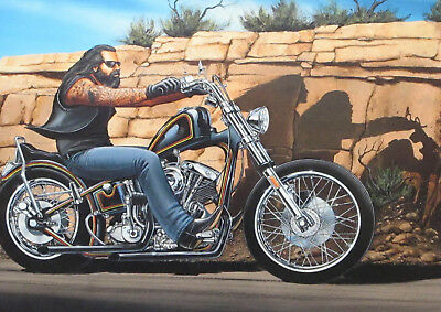 Art Print Poster / Canvas David Mann Ghost Rider 6