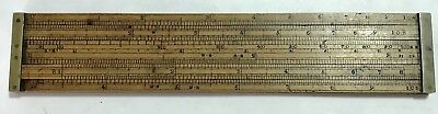 """9 1/2"""" Dring & Fage Boxwood Double Slide Rule London Excellent Condition"""