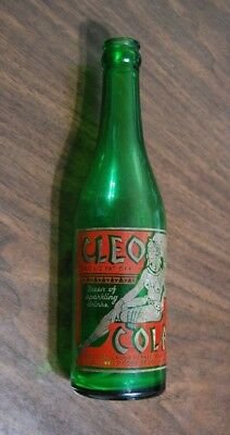 "Cleo Cola Bottle 12Oz - ""cleo Vess Beverage Co. Dallas, Tex.""  Copy Right 1935"