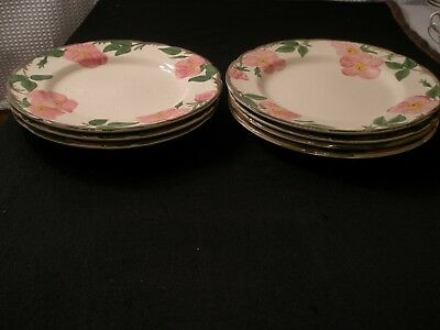 FRANCISCAN Dinner Plate Desert Rose of 7