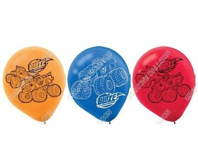 6 x Blaze and The Monster machine Latex Balloons Birthday Party Decoration kids