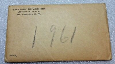 Vintage 1961-Pc.us Mint Proof Coin Set-United States Coin Currency Mint Set-Phil