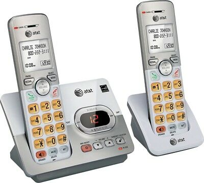AT&T - EL52203 DECT 6.0 Expandable Cordless Phone System with Digital Answering