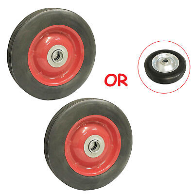 "( 2pc ) 6"" Solid Hard Rubber Tire for Dolly Hand Cart, 5/8"" Axle Hole"
