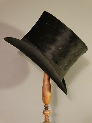 "45"" 19thC Antique VICTORIAN HATTER Old TOP HAT Wood Spool STORE DISPLAY STAND"