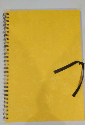 Gold Rose Hard Cover Double Spiral Journal / Scrapbook / Sketch Book / 26x38cm