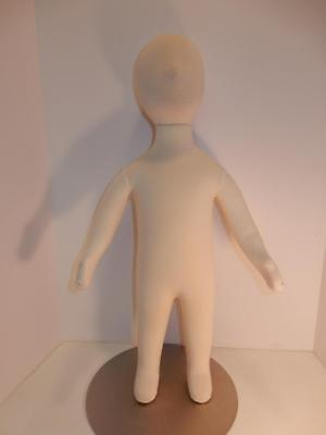 """Full Baby Mannequin On Stand Store Display Head Moves Arms Adjust 27"""""""