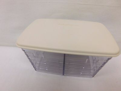 Longaberger Protector Tea  Divided Protector With Lid ~Hard Clear Plastic~