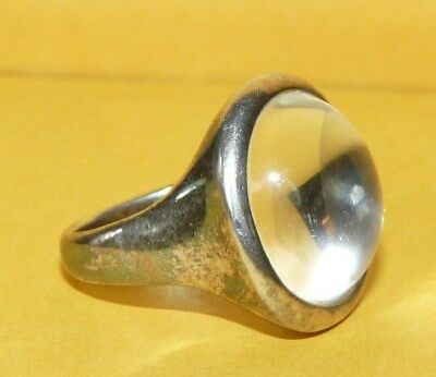~Robert Lee Morris~Studio~Sterling Silver~Pool Of Light~Crystal~Quartz~Ring~Sz 9