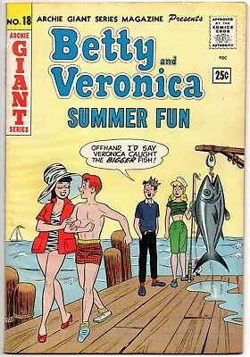Archie Giant Series #18 Betty And Veronica Summer Fun Comics Riverdale 1962 Jag
