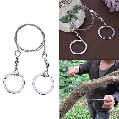 Outdoor Emergency Survival Wire Saw Camping Hiking Manual Rope Chain Wood Cutter