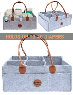 Mom's Favorite XTRA LARGE Diaper Caddy- Portable Diaper Organizer - Sturdy nurse